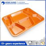 Plaques carrées en plastique de mélamine de dîner de forme de vaisselle de cuisine pour la cantine
