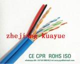Kabel CAT6 u. LAN-Kabel-Plattfisch-Durchlauf 100m-250MHz