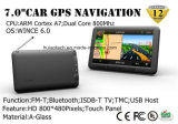"OEM&ODM 7.0 "" Handbediende GPS van de Auto van het in-streepje Draagbare Navigatie met Huivering 6.0, Schors A7, Bluetooth Handsfree, aV-in de AchterCamera van de Mening, 8GB, Navigator Tacker, isdb-TV"