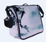 Saco do saco do estilingue do ombro do mensageiro da terra arrendada com suporte de frasco