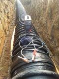 Pipe de pression de HDPE de carat renforcée par enroulement de grand diamètre de sucrerie pour des eaux d'égout