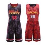 Pallacanestro su ordinazione Jersey delle uniformi di pallacanestro degli abiti sportivi della stampa di Digitahi di alta qualità