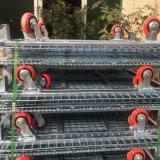 Contenedor de malla de alambre de hierro de la jaula de metal