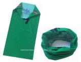 OEM van de Fabriek van China de Opbrengst Aangepaste Sjaal van de Tulband van de Hals van de Polyester van het Embleem Groene