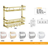 Multifunctioneel Aluminium 3 van de badkamers het Rek van de Handdoek van het Metaal van de Rij (C6205)