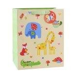 Sacs en papier de cadeau d'art de mémoire de vêtement d'enfants d'éléphant de lune