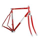 Pfosten und Hauptgefäß mit Rahmen für Straßen-Fahrrad setzen