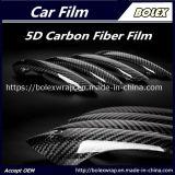 El vinilo de fibra de carbono 5D coche negro de vinilo de envoltura