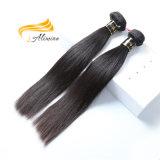 Noir naturel vierge non transformés Tissage de cheveux brésiliens de la livraison gratuite