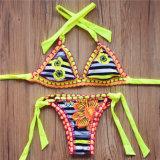 Bikini sexy de vêtements de bain de maillot de bain de Halter de vente de dames d'impression chaude de filles