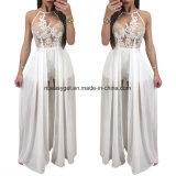 V-Stutzen-Backless Riss-Maxi Partei-Kleid Esg10258 der Frauen reizvoller tiefer