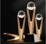 Высокое качество! Имею честь увенчались высокого класса трофей Crystal Custom металлические трофей полимера награды