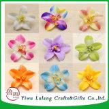 Comercio al por mayor grandes Cattleya Thai Orchid Seda artificial Flores jefe blanco