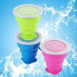 Tasse de voyage pliable en silicone Food-Grade Pop up Tasses