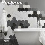 Limpio y moderno diseño hexagonal Baldosa Cerámica de cuarto de baño