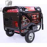 5.5Kw 5.5kVA arranque eléctrico generador de gasolina de bastidor abierto