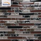 Mosaico nero viola solido della parete di vetro della pietra della banda dell'hotel di Interor