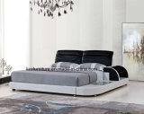 Современная кровать конструкции СИД способа двойная для мебели спальни