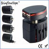 Adattatore universale di corsa del caricatore doppio del USB di Removeable (XH-UC-040)