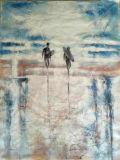 Weißer Hintergrund-handgemachte Abbildung Ölgemälde auf Segeltuch für Wand-Dekoration