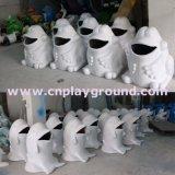 Animales Delfines de exterior Papelera de reciclaje de basura para estacionamiento Bin (HD-18701)