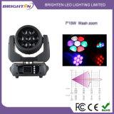 Lumières mobiles de mini de 7*15W DEL zoom superbe de lavage (BR-715P)