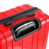 標準的なデザインABS+PCフィルムの荷物、中国の赤い移動のスーツケース(XHP084)