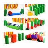 O clássico caçoa blocos de madeira da raça do dominó do brinquedo da instrução com 24 jogos do Add-on dos órgãos