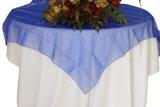 Tablecloth brilhante Overlay do organdi de Organza do casamento tabela brilhante de cristal barata