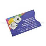 カードの袖を妨げているクレジットカードの反スキャンブロッカーRFID