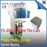 Lata de estanho quadrada grande semiautomática específica de 18L 5-Gallon que faz a máquina da selagem