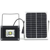 angeschaltener Solarscheinwerfer des Flutlicht-5W, im Freien wasserdichtes Sicherheits-Licht für Haus, Garten, Rasen, Pool