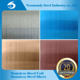 304 Plaque en acier inoxydable gaufré, gravure, de couleur