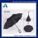 L'abitudine ha stampato ombrello promozionale d'inversione/invertito delle automobili di piegatura inversa esterna