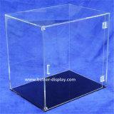 Plaza de la caja de acrílico transparente de plástico con tapa
