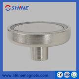 Сильным покрынный никелем магнит бака держателя NdFeB магнитный с отверстием резьбы