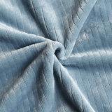 Silk Farbband gekreuzte packende Polyester-polare Vlies-Zudecke des Normallack-Superweiche-100