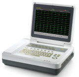L'hôpital électrocardiographe 12 canaux EKG Machine ECG (EM1200)
