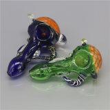 Tubulação colorida de vidro de fumo da colher da tubulação da mão da tubulação de água da tubulação
