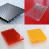 6mm рециркулировали лист Sun крыши противотуманного полого поликарбоната пластичный