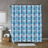 Customized Print Polyester Bath Shower Curtain for Bathroom for Wholesale