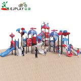 Parque Infantil exterior define as crianças do Parque de diversões e equipamento de slides em espiral, atraente piscina Playground caseiras equipto