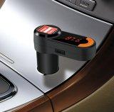 OEM FM transmisor Bluetooth manos libres inalámbrico para coche Adaptador de radio FM Transmitter Kit para coche con USB Cargador de coche entrada Aux.