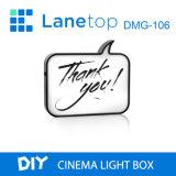 Casella chiara di notte della scrittura a mano della casella chiara DIY del cinematografo della scheda bianca