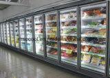 Congelatore di vetro della visualizzazione dei portelli dell'annuncio pubblicitario 5 per il supermercato
