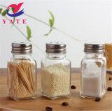 4 унции из прозрачного стекла Spice кувшин с металлический колпак