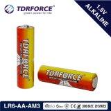 1,5V tamanho AA LR6 Super bateria alcalina com BSCI (LR6-AA)