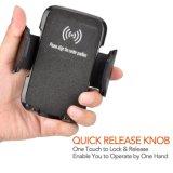 OEM/ODM rápido Qi Wireless cargador de coche para iPhone/Samsung o Nokia y Motorola/Sony/Huawei/Xiaomi
