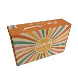 Pas het Vakje van de Gift van het Document met Glanzende Laminering en Kleurendruk voor Verpakking aan