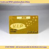 Scheda metallica del PVC della plastica dell'oro per l'identificazione del membro